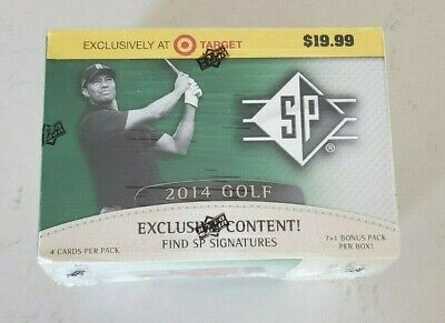 2014 UPPER DECK SP GOLF CARDS BOX FACTORY SEALED POSSIBLE TIGER WOODS AUTO !!