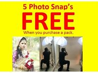 FREE = 5 Portrait Photo Snap's Free When you purchase a package.
