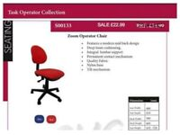 Red Operator Task Computer Compact Office Chair Open For Collection in Lockdown Bulk Discount