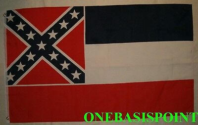 - 3'x5' Mississippi State Flag USA Confederate Battle Saltire Rebel Outdoor 3X5