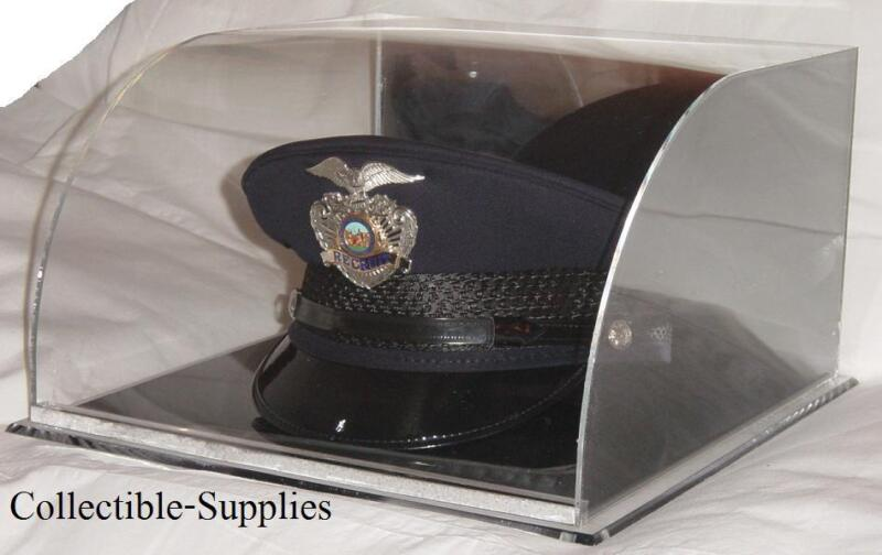 NEW Curved Military / Police Top Hat Cover Display Case