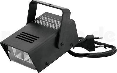Stroboskop Mini Blitzer Disco Licht Strobe regelbar Blitz Effekt Lampe Party NEU