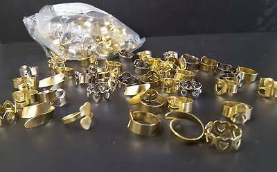 LOT OF 144 ASSORTED METAL CHILDRENS RINGS ASSORTED STYLES GOLD AND SILVER
