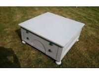 Large Grey Distressed Coffee Table