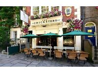 Kitchen porter needed in Richmond pub. Part time