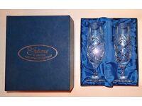 Lead Crystal Flutes / Glasses