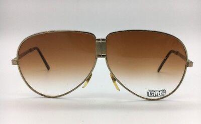 GTE Corporation Folding Sunglasses Vintage Aviator Gold Metal Frame (Corporate Sunglasses)