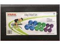 York Fitness 10 kg Dumbbell/Fitbell Set
