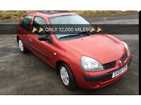 RENAULT CLIO•**ONLY 12,000 MILES**•FSH•FULL MOT•1 LADY OWNER (GET IT FAST!)