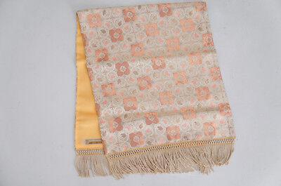 Kyoto KAWASHIMA ORIMONO Silk Gold-thread Table Cloth Rug Free Ship 106h21