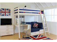 Thuka Trendy High Sleeper, bunk bed with desk