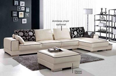2-Piece Modern Leather Sectional Sofa Set SA2886