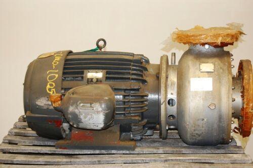 """J.C. Carter Centrifugal Pump 8"""" x 6"""", 1000 GPM 6228L-30TE-1, 30 HP 220/440 Volts"""