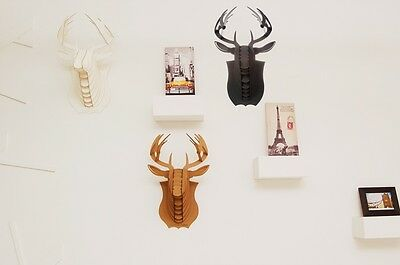 Deer Buck Stag Head Antler 3D Puzzle Jigsaw Paper Animal Model Wall Mount Deco