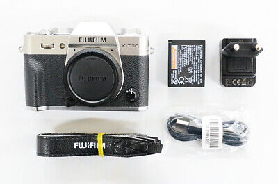 "# Fujifilm X-T30 26.1MP Mirrorless Camera - Silver ""2 cut"" S/N 09290"