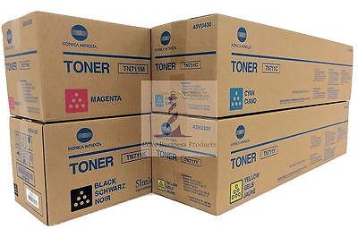Genuine Konica Minolta BIZHUB C654 / C754 Toner Cartridge Set TN711 CMYK for sale  Shipping to India