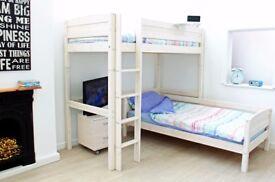 Thuka High Sleeper D L-Shaped Bunk Bed solid Scandinavian pine