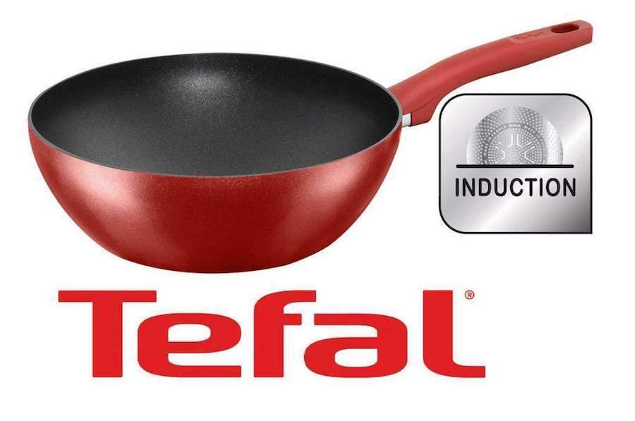 tefal character wok 28 cm titanium pro induktion pfanne bratpfanne wokpan neu ebay