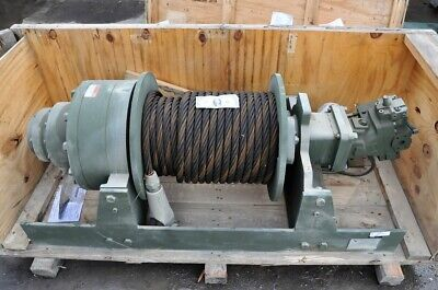 Winch Military Dp Hydraulic 60000 Lb. Planetary 170 Feet 1 Inch Cable
