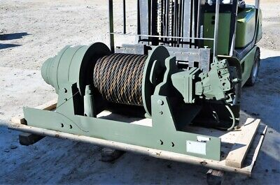 New-military Winch 60000 Lb Dp Manu. Hydraulic Planetary 170 Feet 1 Inch Cable