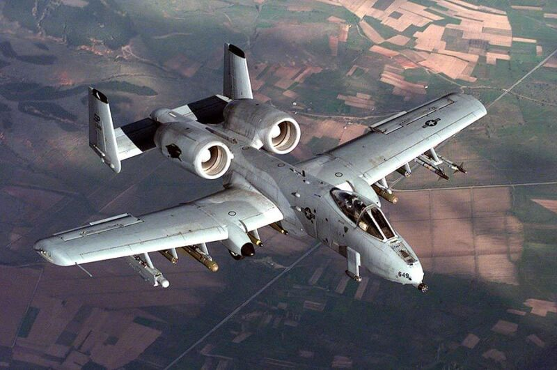 A-10 THUNDERBOLT IN FLIGHT 12x18 SILVER HALIDE PHOTO PRINT