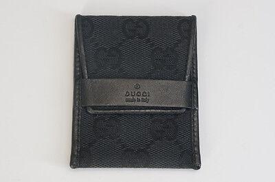 Authentic GUCCI Accessory Case GG Canvas Black Free Shipping 934f29