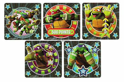 Ninja Turtle Goodie Bags (15 Teenage Mutant Ninja Turtle TMNT Stickers Bday Party Goody Loot Bag)