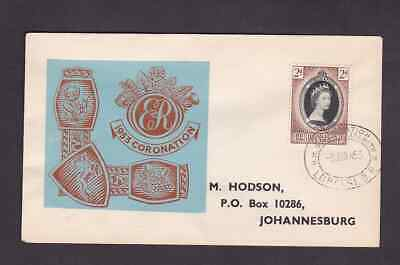 Bechuanaland 1953 FDC 1st day cover to South Africa QE II Coronation Hodson