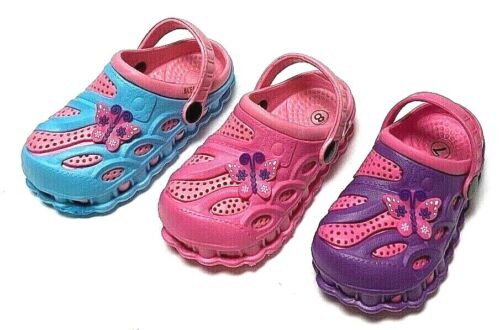 Girls Kids Garden Clogs Shoes Toddler Slip-On Casual Two-tone Slipper Sandals