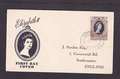 Bechuanaland Protectorate 1953 FDC 1st day cover England QE II Coronation Sander