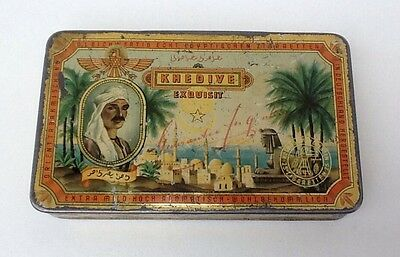 Alte originale Blechdose Zigarettendose KHEDIVE Exquisit Kosmos Dresden