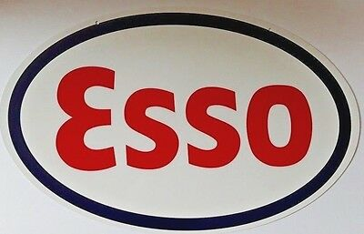 "Esso Single Sided Heavy Sign 24"" Cabin Home Station Garage Shop Farm Barn Decor"