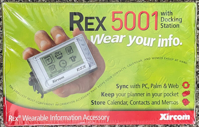 Vintage Sealed Brand New Xircom 1998 REX 5001 Wearable w/ Docking Station NIB