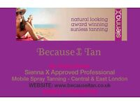 MOBILE SIENNA X SPRAY TANNING THERAPIST - COCOA BROWN & SIENNA X