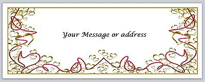 30 Personalized Return Address Labels Hearts Buy 3 Get 1 Free Bo191