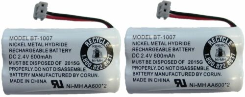 NEW! Genuine Uniden BT-1007 BT1007 Rechargeable Cordless Phone Battery (2-Pack)