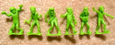 Toy Monsters (Imperial Toy Lot of 6x Neon Green ZOMBIES Monster Playset Figures - Nice &)
