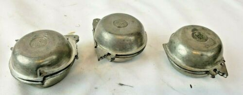 Set of 3 old chinese pewter molds