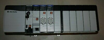 Allen Bradley Controllogix Loaded 10 Slot Rack Complete System With 1756-l72