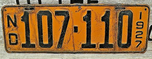 1927 North Dakota License Plate