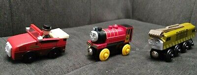 Thomas And Friends Wooden Train Lot of 3 Victor, Winston, Diesel 10 Free Ship!