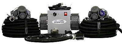 Air Half Mask Respirator - 2-man half mask supplied air respirator  w/50' hoses
