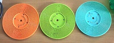 VINTAGE LOT OF 3 FISHER PRICE MUSIC BOX RECORD PLAYER RECORDS Only Replacements