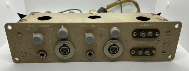 Vintage 1950s Panacoustic Tube Microphone Preamp Pair Of UTC A-11 Transformers