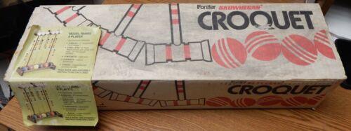 VINTAGE FORSTER SKOWHEGAN CROQUET SET NEW IN BOX UNUSED RARE LQQK