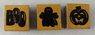 3 HALLOWEEN Rubber Stamps JRL Design Pumpkin Jack O'Lantern Ghost Boo - Halloween Pumpkin Designs Boo