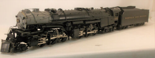 """S BRASS OVERLAND MODELS NORFOLK & WESTERN """"A"""" 2-6-6-4 MALLET LOCO #1225 PAINTED"""