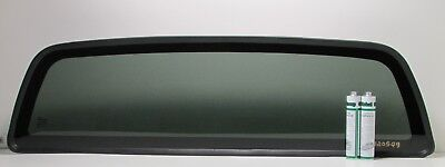 Fits: 2000-2006 Toyota Tundra Back Glass Stationary Dark Tinted  + 2 Glue