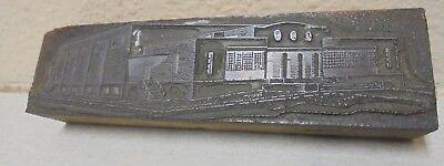 Vintage Building Wharehouse Metal Wood Letterpress Printing Block