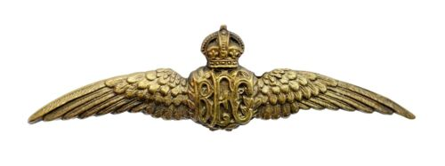 Royal Flying Corps Wing Badge Brass Metal